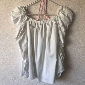 kate spade Tops - kate spade poplin square neck blouse size 2